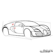 How to draw bugatti veyron super sport step 09