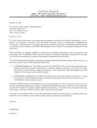 elementary principal cover letter sample cover letter position