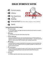 Argument And Persuasion Essay Examples C H O R E S Adding Evidence To Argument Persuasive Essays