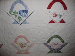 181 best Vintage Doilies & Handkerchiefs: Quilts & More images on ... & Hankie Quilt - love the hankie baskets. Adamdwight.com