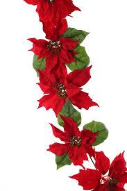 Poinsettia Weihnachtsstern Christstern Girlande 12 Blumen