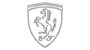 ferrari logo black and white. como desenhar o smbolo da ferrari emblema escudo how to draw the logo black and white