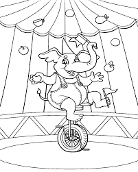 printable circus coloring pages me