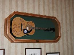 custom made guitar display case