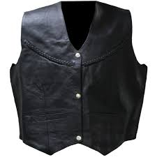 womens 1251 braided leather vest