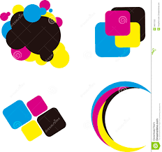 Logo Printing Design Logo Cmyk Printing Concept Stock Vector Illustration Of