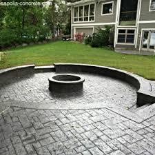 Stamped concrete patio with fire pit cost Broken Cement Stamped Concrete Patio With Fire Pit Cost Stamped Concrete Patio With Raised Firepit Www Minneapolis Kvyatinfo Stamped Concrete Patio With Fire Pit Cost Stamped Concrete Patio