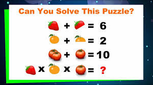 3 math riddles for geniuses fruit math puzzle