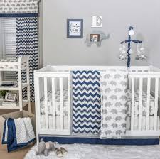 image is loading navy chevron and grey elephant 3 piece baby