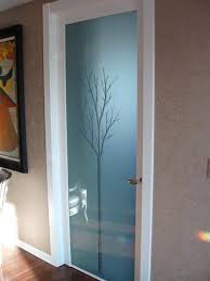 contemporary interior glass doors door with magic frosted modern