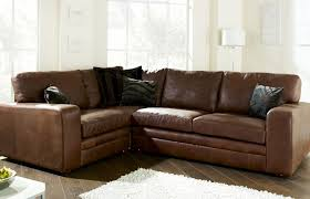 abbey leather corner settee