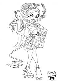 Small Picture Jinafire Long Monster High Coloring Page Coloring Pages of