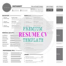 Premium Resume Cv Template