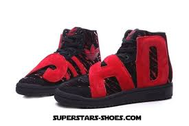 adidas shoes high tops black and red. adidas originals jeremy scott letter high tops women shoes red black (adidas sale) and b