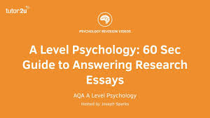 a level psychology second guide to answering research essays a level psychology 60 second guide to answering research essays
