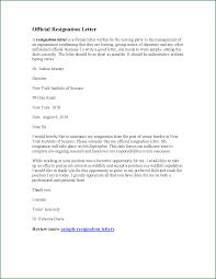 good letter of resignation 11 resignation letter sample effective immediately