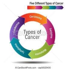 Cancer Chart Five Different Types Of Cancer