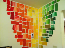 Free Wall Art With Paint Chips! Paint Chip Art