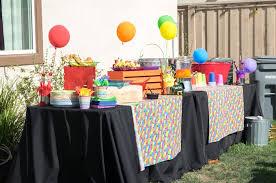 rainbow food party table from a rainbow paint party on kara s party ideas karaspartyideas