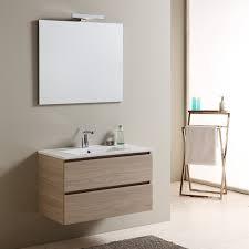 Mobile bagno con lavabo in ceramica a due cassetti larghezza 80 cm