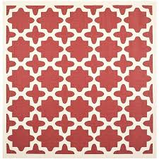 safavieh courtyard collection courtyard collection red and bone indoor outdoor square area rug