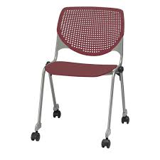 kool furniture. Our 2300 KOOL Series Stacking Poly Silver Steel Frame Armless Chair  With Perforated Back And Casters Kool Furniture H