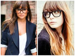 Best Hair Style For Long Face best 10 bangs and glasses ideas specs frame for 1562 by wearticles.com