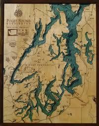 Puget Sound Chart Puget Sound Map Sound Map Seattle