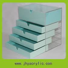 high quality clear clear makeup organizer acrylic clear cube makeup organizer drawer display with 5drawers in storage drawers from home garden on