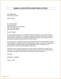 Job Offer Letter New Letter Accepting Job Fer Best Free