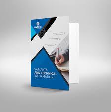 Presentation Folder Design Template Tri Fold Brochure