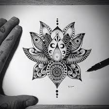 Mandala Lotus Designs Lotus Flower Tattoo Design On Tattoo