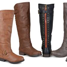 journee collection women s extra wide calf knee high riding boots
