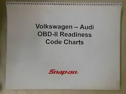Obd Ii Code Chart Details About Snap On Vw Audi Obd Ii Readiness Code Charts 2004