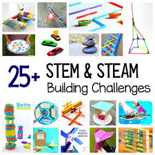 25 stem challenges for kids based on design engineering and building steam