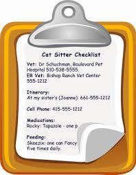 Cat Sitter Checklist Catster