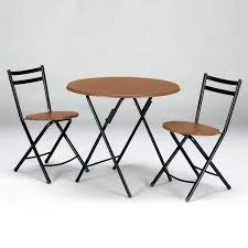 folding table set 3 piece set round round table dining table café table lounge table 3 point set dining set chair chairs folding chair 2 leg folding