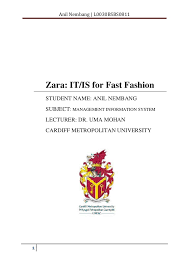 anil nembang zara case study anil nembang l0030bsbs0811 1 zara it is for fast fashion student