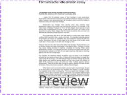 formal teacher observation essay custom paper writing service formal teacher observation essay teacher observation report of student centered teacher i have received and
