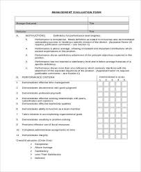 Restaurant Manager Review Forms 11 Sample Performance Evaluation Forms Sample Templates