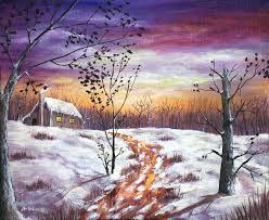 interior painting winter house by anastasiya malakhova