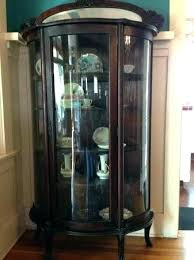 antique curio cabinet curved glass for with oak china cupboard empire feet antique curio cabinets for cabinet with curved glass