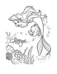 Coloriage La Petite Sirene Ariel Coloriages Pour Enfants