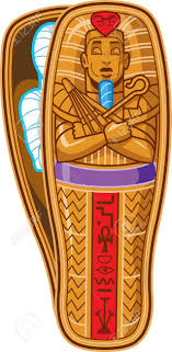 Egyptian Coffin Designs Egyptian Coffin Clipart