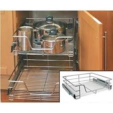 image unavailable image not available for colour kitchen cabinet cupboard pull out wire storage basket