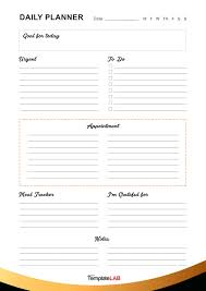 free daily planner printables 47 printable daily planner templates free in word excel pdf