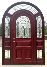 arched top glass door with surround