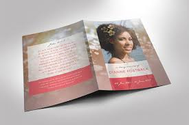 funeral pamphlet modern funeral program template brochure templates creative market
