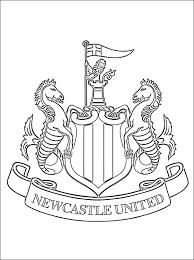 Kleurplaat Van Newcastle United Fc Logo Gratis Kleurplaten