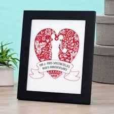 exclusive personalised ruby anniversary doodle heart print by doodledeb image